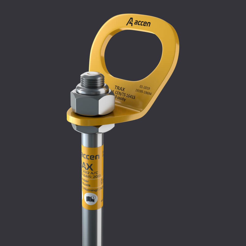 Accen- Trax B Anchor point for three people - mounting to reinforced concrete base material