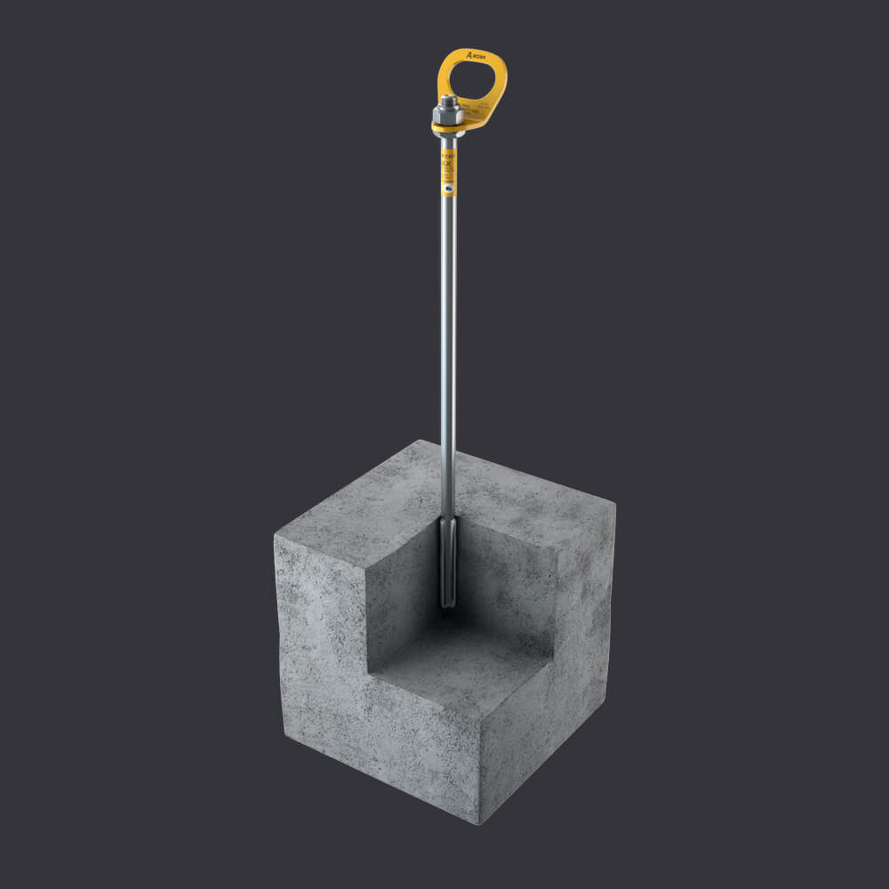 Accen Trax B - anchor point - mounting to reinforced concrete base material