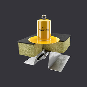 Individual protection for two - Twist FIX anchor point - flat roof with thermal insulation