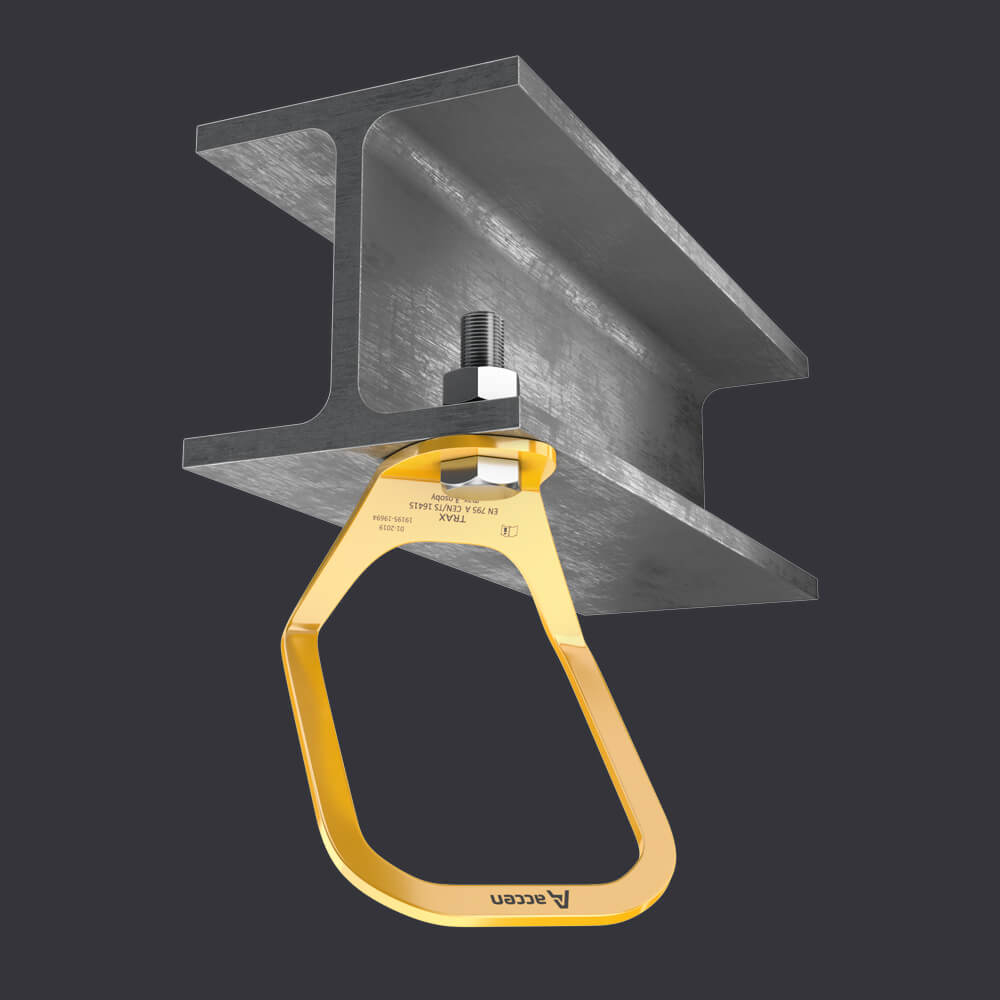 Accen Trax Light XL - anchor point - mounting to reinforced concrete and steel base material