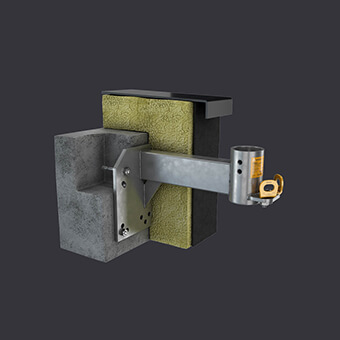 FAS AT facade access system - Attic socket - mounting in reinforced concrete attic