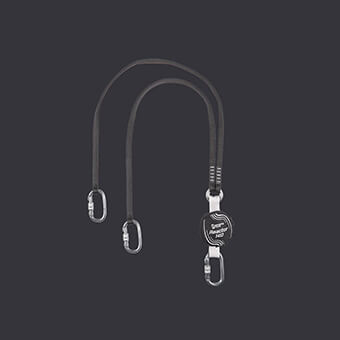 Belay Lanyard with integrated Reactor 140 S absorber
