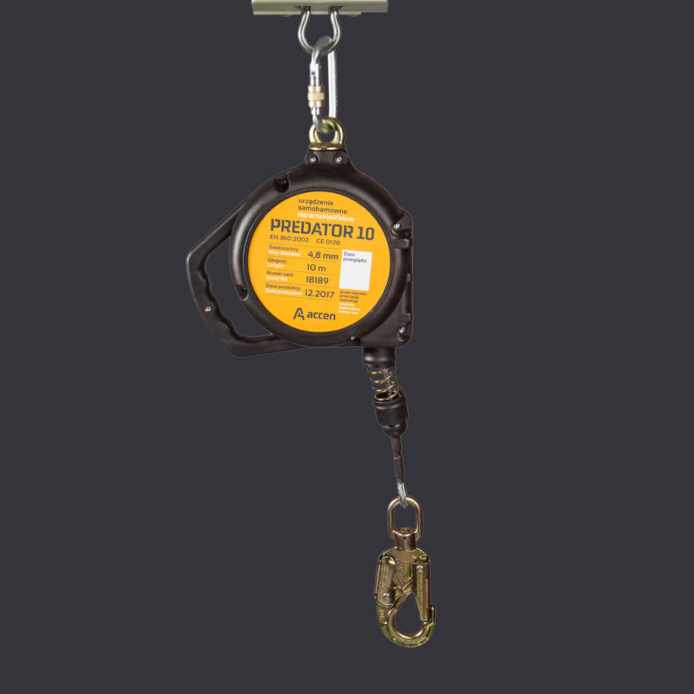 Fall arresting device Predator 10 Accen - personal protection system at 10m