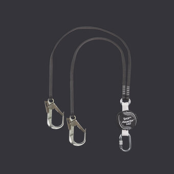 Belay lanyard with integrated Reactor 140 XL absorber