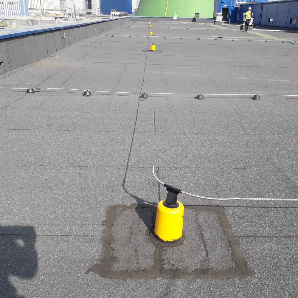 Horizontal roof protection system - Twist Fixe Line - Accen
