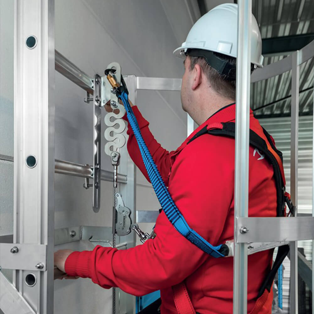 Accen Vertic Line - a vertical fall protection system used on ladders and vertical routes